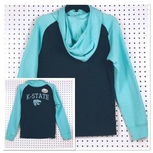 OURAY K-STATE HOODIE | SMALL TEAL AND GRAY